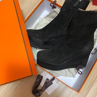 エルメス(Hermes)のエルメス ショートブーツ ブラック 38(ブーツ)