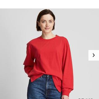 ユニクロ(UNIQLO)のコットンリラックスフィットT XL (Tシャツ(長袖/七分))