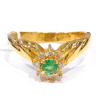 ジュエリーマキ(ジュエリーマキ)のK18 エメラルド ダイヤモンド リング(リング(指輪))