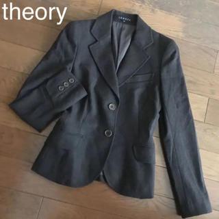 セオリー(theory)の美品♡theory セオリー♡テーラードジャケット ウール95% ブラウン X0(テーラードジャケット)