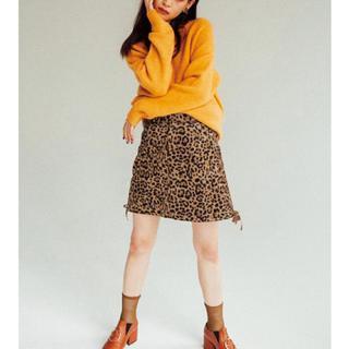 ムルーア(MURUA)のまゆ様専用 MURUA 台形ヒョウ柄スカート(ミニスカート)