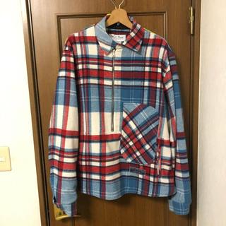 ピースマイナスワン(PEACEMINUSONE)のGD着用 we11done 青チェックシャツ(ブルゾン)