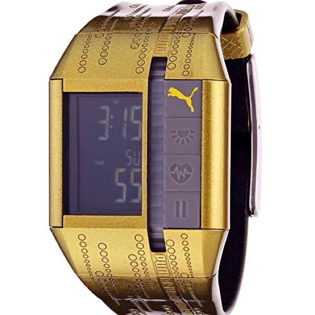PUMA - 【プーマ】デジタル腕時計 ゴールド [心拍計測ベルト付]の通販