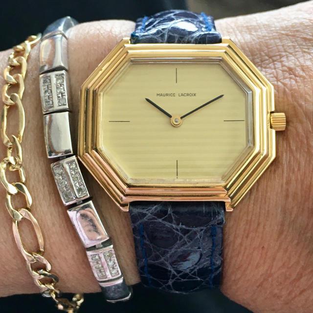 MAURICE LACROIX - モーリスラクロワ メンズ 手巻き 八角時計 最高級バンド付き極上品の通販