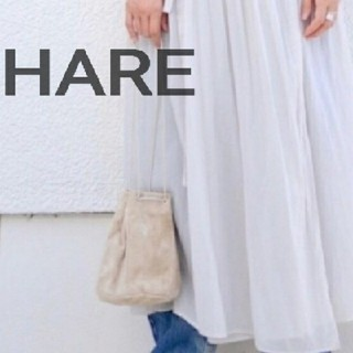 ハレ(HARE)の送料込み!HAREスエード巾着バッグベージュ(その他)