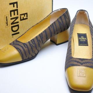 FENDI - FENDI フェンディ ヴィンテージ シューズ 靴 パンプス レオパード 37