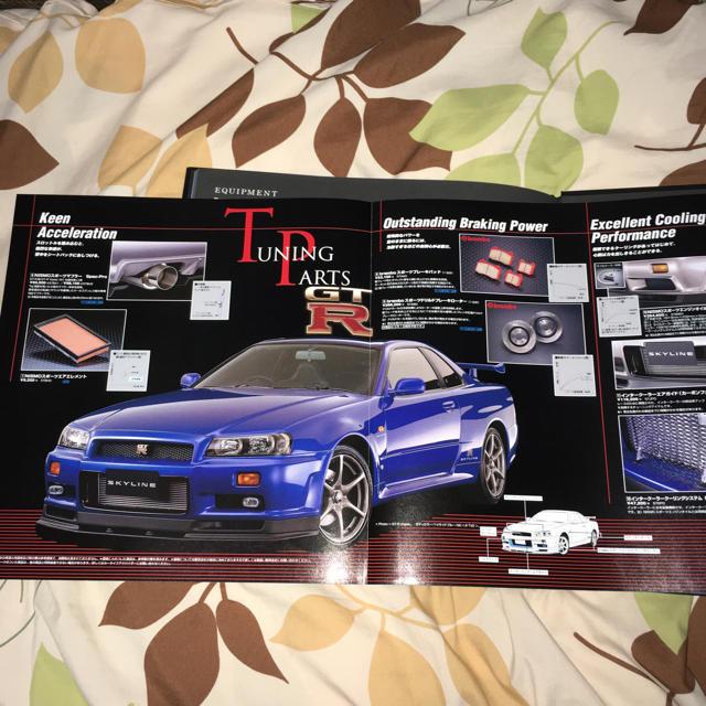 日産(ニッサン)の日産 スカイライン SKYLINE GT-R R34 カタログ 自動車/バイクの自動車(カタログ/マニュアル)の商品写真