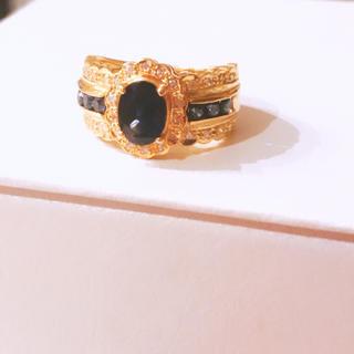 ソーティング付 k18 サファイア・ダイヤモンドリング(リング(指輪))