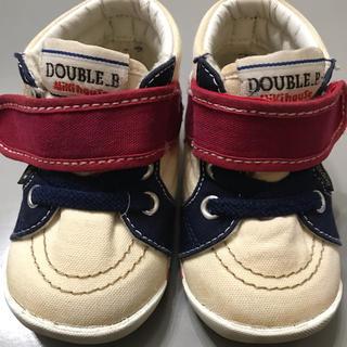 ダブルビー(DOUBLE.B)のミキハウス 12.5 ダブルB ファーストシューズ(スニーカー)