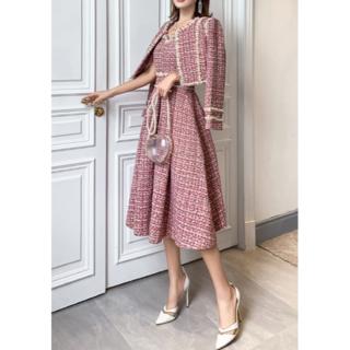 エイミーイストワール(eimy istoire)の💛ツイードショートジャケット+ドレス 2ピースセット💛(セット/コーデ)
