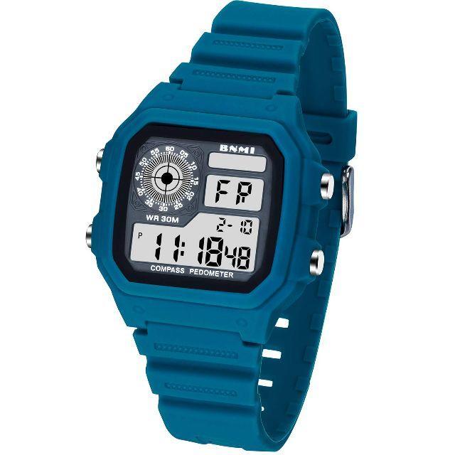 【新品】デジタル腕時計 男女共用 スポーツウォッチ ストップウォッチ機能付き の通販