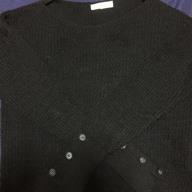 armoire caprice(アーモワールカプリス)のアーモワールカプリス 今季 ニット 黒 レディースのトップス(ニット/セーター)の商品写真