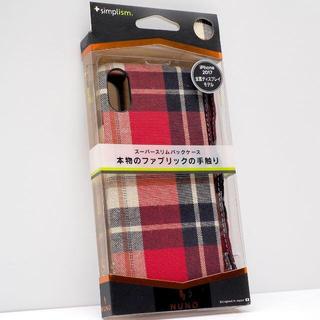 iPhone X 用 NUNO ファブリックケース レッドチェック(iPhoneケース)