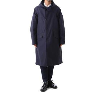コモリ(COMOLI)のCOMOLI コモリ HOODED COAT フーデッドコート ネイビー 1(モッズコート)