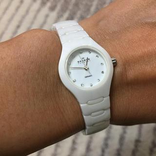 スカーゲン(SKAGEN)のSKAGEN スカーゲン デンマーク ホワイトセラミックバンドウォッチ (腕時計)