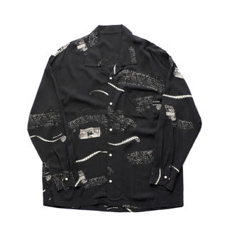 ポーター(PORTER)のPorter Classic - ALOHA LONG SHIRT-BLACK(シャツ)
