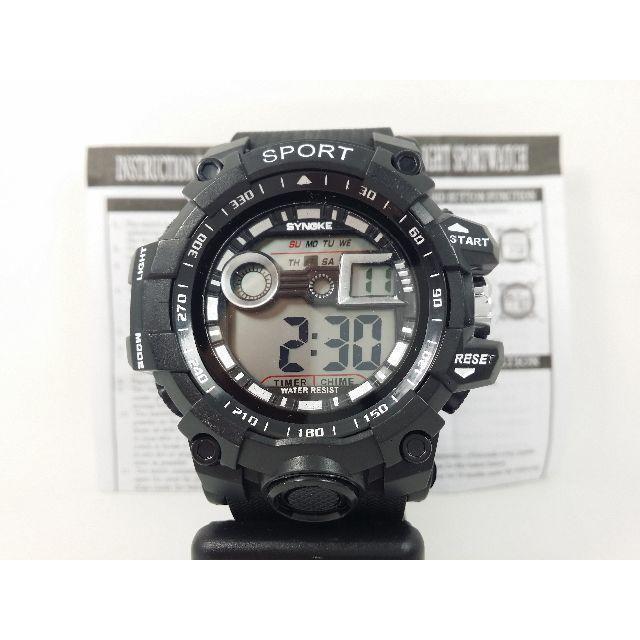 30m防水防塵 ブラック デジタル腕時計の通販