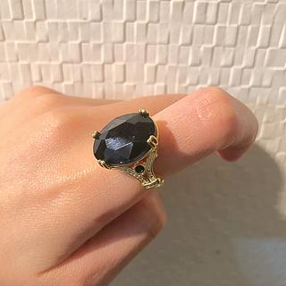 スワロフスキー(SWAROVSKI)の新品未使用 ブラックダイヤ(リング(指輪))