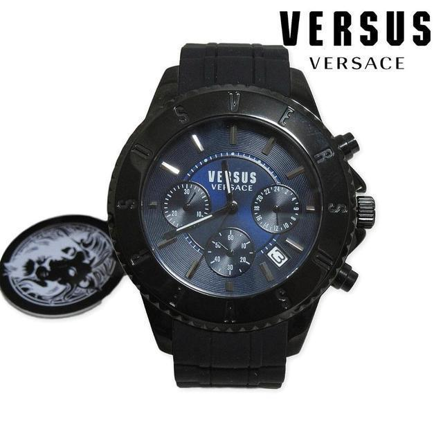 VERSACE - 新品 VERSUS VERSACE メンズ クロノグラフ 腕時計 ブラックの通販