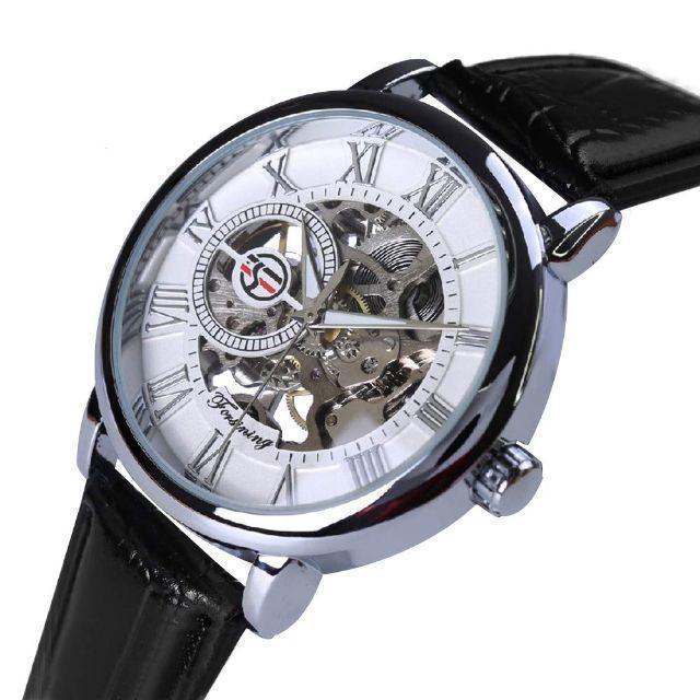 大特価!4480円 どんな服装にも 男女兼用モデル スケルトン腕時計の通販