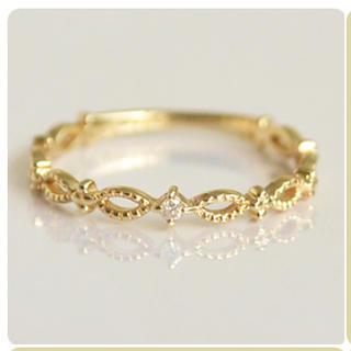 SIENAピンキーリング ダイヤK10(リング(指輪))