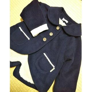 ビケット(Biquette)のビケット 燕尾デザインのジャケットコート 110 濃紺 ネイビー キムラタン(コート)