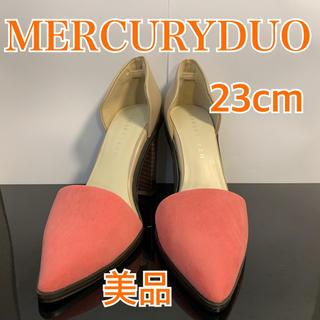 マーキュリーデュオ(MERCURYDUO)のマーキュリーデュオ パンプス スエード レザー ピンク グレージュ 23cm(ハイヒール/パンプス)