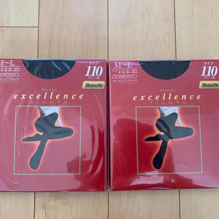 カネボウ(Kanebo)の【2足セット】カネボウ エクセレンス タイツ 110D Mサイズブラック(タイツ/ストッキング)