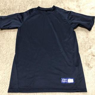 アシックス(asics)のasics 160cm 紺色 半袖 アンダーシャツ(ウェア)