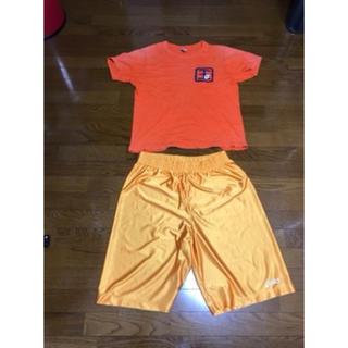 アシックス(asics)のバスケ ウエア  セット オレンジ アシックス パンツ シャツ バスパン(バスケットボール)
