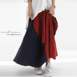 アンティカ(antiqua)のアンティカ カラー切替スカート(ロングスカート)