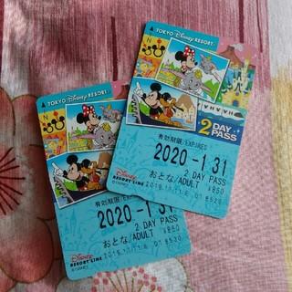 ディズニー(Disney)のディズニーリゾートライン 2day パスポート 大人2枚(その他)