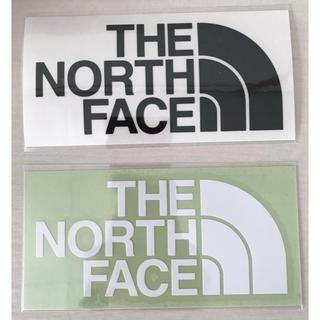 ザノースフェイス(THE NORTH FACE)のザノースフェイス ステッカー 正規店購入 白黒1枚セット(ステッカー)