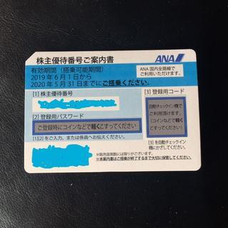 エーエヌエー(ゼンニッポンクウユ)(ANA(全日本空輸))の ANA 1枚 株主優待券(航空券)