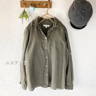 ニコアンド(niko and...)のニコアンド   麻100%  シャツ LLサイズ ゆったり リネン(シャツ/ブラウス(長袖/七分))