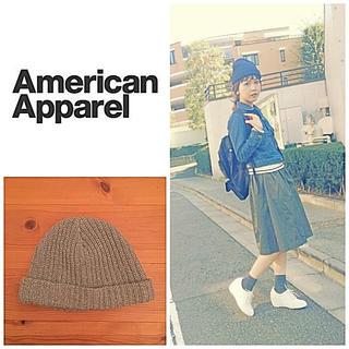 アメリカンアパレル(American Apparel)のアメアパ♡グレーニット帽(ニット帽/ビーニー)