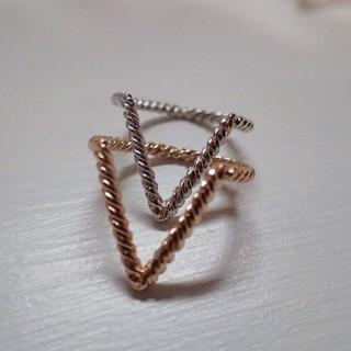 V字リング2本セット(リング(指輪))