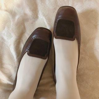 ロキエ(Lochie)のvintage brown shoes(ローファー/革靴)