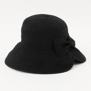 トッカ(TOCCA)の【美品 送料込】TOCCA FOLDING RIBBON HAT ブラック(ハット)