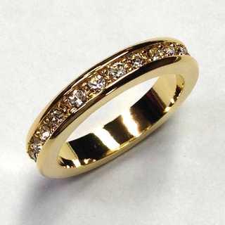 フルエタニティリング ゴールド 指輪 スワロフスキー社製クリスタル使用(リング(指輪))