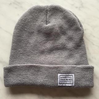 セシルマクビー(CECIL McBEE)のセシルマクビーのニット帽   グレー(ニット帽/ビーニー)