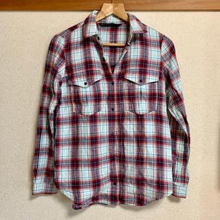 ザラ(ZARA)のZARA チェックシャツ 赤 青(シャツ/ブラウス(長袖/七分))