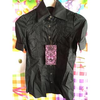 ボディライン(BODYLINE)のマウジー 黒可愛い 半袖 シャツ ブラウス ゴシック ヘアバンド メイド (衣装)