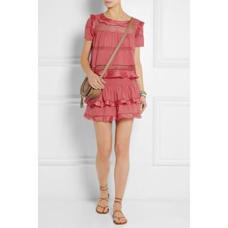 イザベルマラン(Isabel Marant)のイザベルマラン  フリルスカート ピンク(ミニスカート)