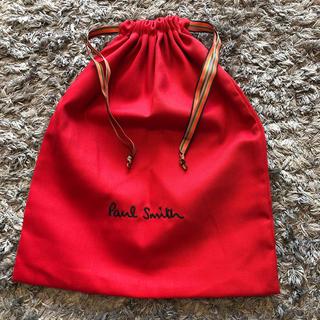 ポールスミス(Paul Smith)の未使用 新品 ポールスミス 巾着袋 レッド レディース メンズ キッズショッパー(その他)