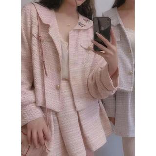アンクルージュ(Ank Rouge)の最終値下げ 量産系 ゆめかわ セーラー襟 ピンクスーツコートとスカートのセット(セット/コーデ)