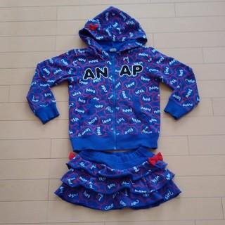 アナップキッズ(ANAP Kids)のANAP kids 120 ねこ耳パーカーとミニスカートセット アナップ 110(Tシャツ/カットソー)