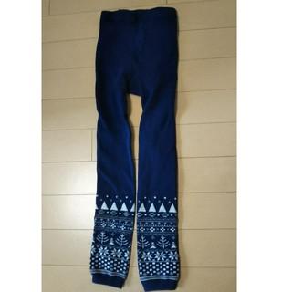 タイツ 防寒 青色 サイズ130(靴下/タイツ)