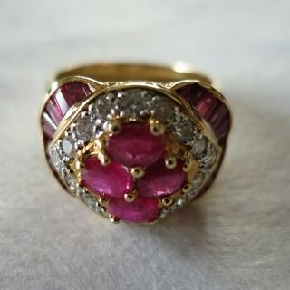ルビーダイヤモンド リング(リング(指輪))