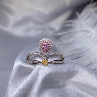 ピンクとイエローダイヤモンドの指輪(リング(指輪))